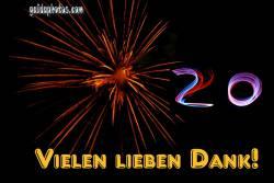 20. Danke Feuerwerk