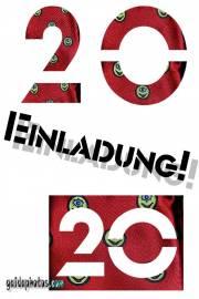 Geburtstagseinladungen zum 20.Geburtstag