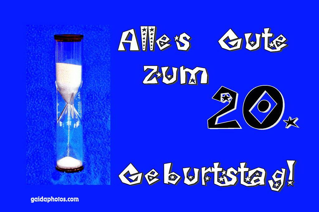 Gluckwunsche Zum 20 Geburtstag