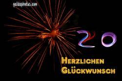 20. Geburtstag: Feuerwerk
