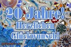 20. Geburtstag: Mosaik