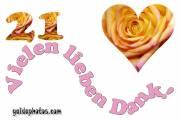 21. Geburtstag Danksagung Herz, Liebe, Valentinstag
