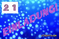 21. Einladung Blaue Sphären