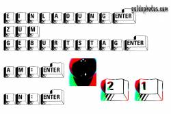 21. Einladung Tastatur