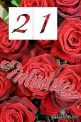Geburtstagseinladung 21. Geburtstag Rose