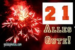 21.  Feuerwerk