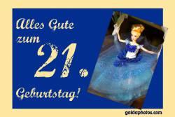 21. Geburtstag Karte Barbie Puppe