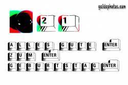 Karte 21. Geburtstag Tastatur