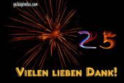25. Danke  Feuerwerk