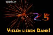 25. Geburtstag Dank  Feuerwerk