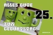 Karte 25. Geburtstag Augenrollen