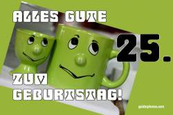 25. Geburtstag Augenrollen