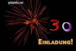 30 Geburtstag: Geburtstagseinladungen Feuerwerk