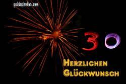 30 Geburtstag: Geburtstag-Ecards Feuerwerk