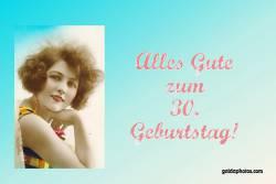 30. Geburtstag Karte Frau Antik