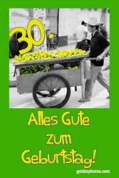 30. Geburtstag Zitronen