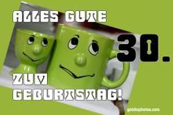 30. Geburtstag Augen rollen