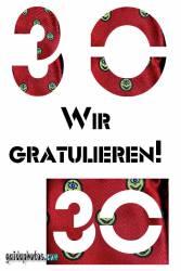 30 Geburtstag: Geburtstag-Ecards