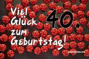40. Geburtstag Marienkäfer