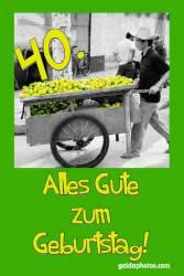 40. Geburtstag Zitronen