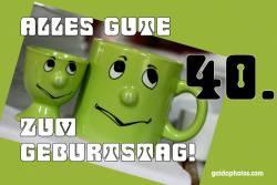40. Geburtstag Karte Augen rollen