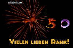 50 Danke Feuerwerk