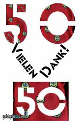 50 Geburtstag: Danksagungskarten