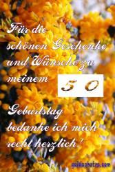 50 Danke gelbe Blüten
