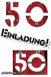 50 Geburtstag: Einladungskarten