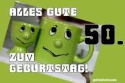 Karte 50. Geburtstag Augenrollen