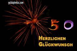 50 Geburtstag: Karten Feuerwerk
