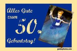 Karte 50. Geburtstag Barbie