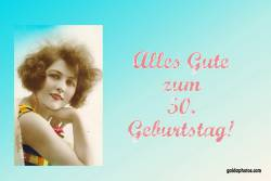 50. Geburtstag Frau Antik