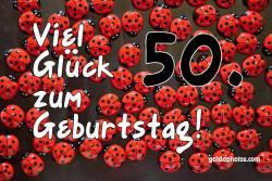 50. Geburtstag Marienkäfer