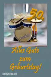 Karte 50. Geburtstag Schlagzeug