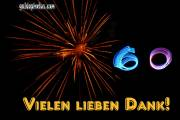 60 Geburtstag Danksagungskarten  Feuerwerk