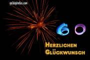 Zum 60 Geburtstag Karten Feuerwerk