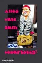 60. Geburtstagskarte Clown lustig