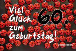 Karte 60. Geburtstag Marienkäfer
