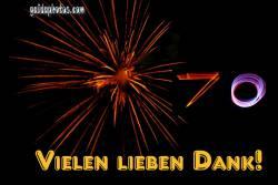 70 Danke Feuerwerk