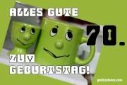 70. Geburtstag Karte Augenrollen