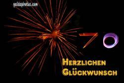 Grußkarten zum 70. Geburtstag Feuerwerk