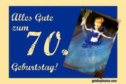70. Geburtstag Karte Barbie