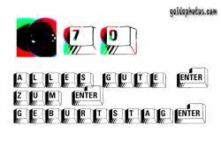 Grußkarten zum 70. Geburtstag  Tastatur