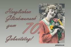 70. Geburtstag Frau Blumenstrauß Antik