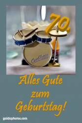 70. Geburtstag Schlagzeug