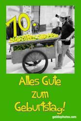 70. Geburtstag Zitrone