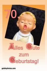 70. Geburtstag Karte Engel singt