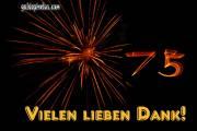 75 Geburtstag Danksagung  Feuerwerk