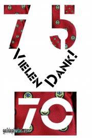 75 Geburtstag Danksagung